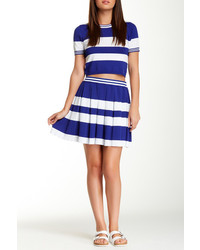 Romeo & Juliet Couture Striped Box Pleated Skirt