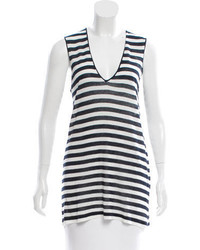 Striped sleeveless top w tags medium 3649449