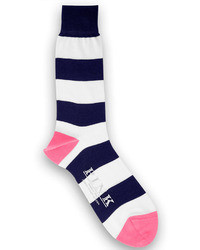Thomas Pink Rugby Stripe Socks