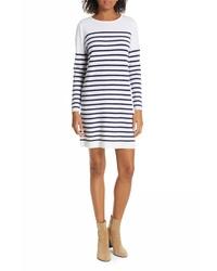 Allude Breton Stripe Cashmere Sweater Dress