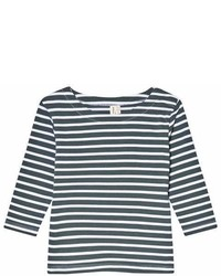 Gray Label Blue Grey And White Stripe T Shirt