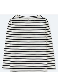 Uniqlo Kids Striped Boat Neck Long Sleeve T Shirt