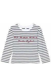 Burberry Navy And White Stripe Peggy T Shirt