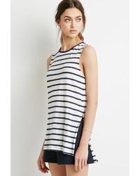 Forever 21 Striped Linen Tank
