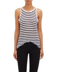 Alexander Wang T By Striped Tank Blue