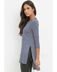 Forever 21 High Slit Striped Tunic