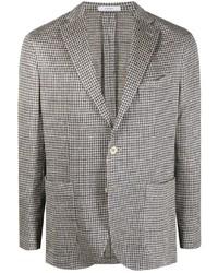 Boglioli Houndstooth Pattern Linen Blazer