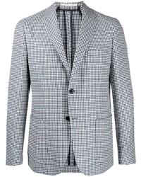 BOSS Houndstooth Pattern Single Breasted Blazer