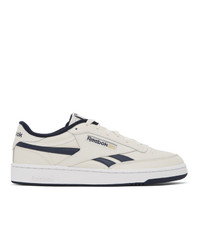 Reebok Classics Off White And Navy Club C Revenge Sneakers