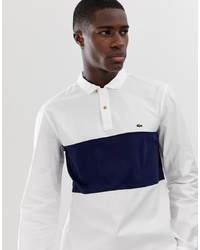 Lacoste Overhead Half Button Shirt In White