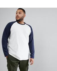 Jack & Jones Originals Plus Size Long Sleeve T Shirt With Raglan Sleeve