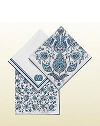Gucci Set Of Three Paisley Print Cotton Pocket Squares