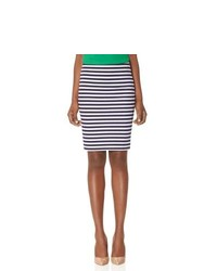 White and Navy Pencil Skirt