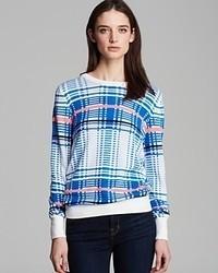 Equipment sweater shane crewneck plaid jacquard medium 71553