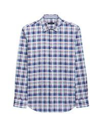 Bugatchi Classic Fit Stretch Plaid Button Up Shirt
