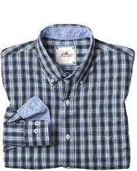 Johnston murphy slim fit washed plaid shirt medium 19302