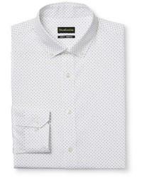 City Of London Slim Fit Premium Cotton Non Iron Polka Dot Dress Shirt