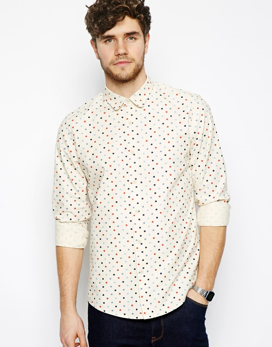 Blue Polka Dot Shirt Polka Dot Shirt in Long Sleeve
