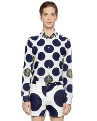 Kenzo Polka Dot Printed Cotton Poplin Shirt