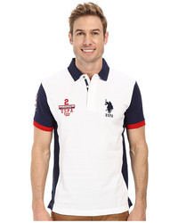 U.S. Polo Assn. Color Block Slim Fit Pique Polo