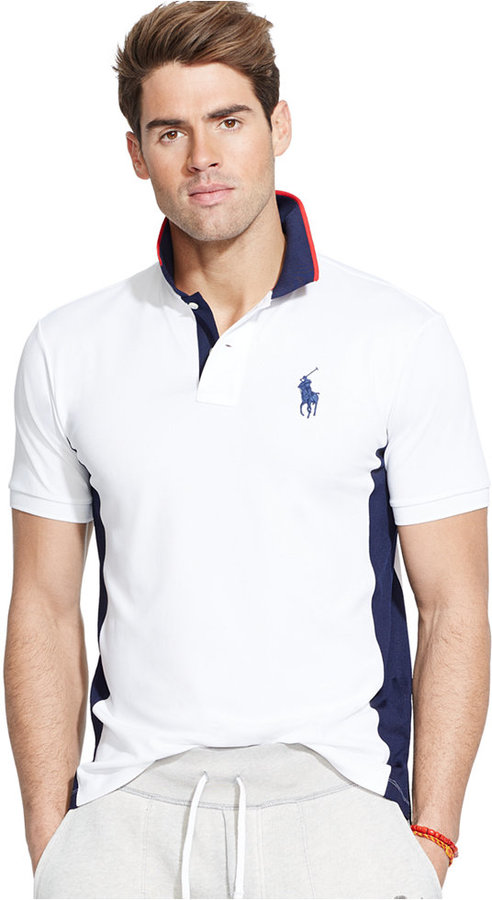 ... Polo Ralph Lauren Color Blocked Mesh Performance Polo ...