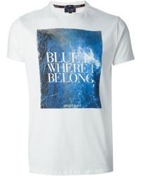 Armani Jeans Blue Is Print T Shirt