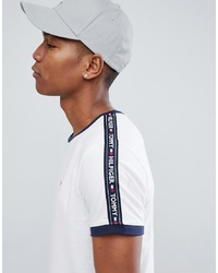 Tommy Hilfiger Authentic T Shirt Side Logo Taping In White
