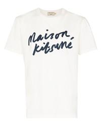 MAISON KITSUNÉ Logo Print Short Sleeve T Shirt