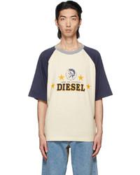 Diesel Off White Navy D4d 22 T Shirt