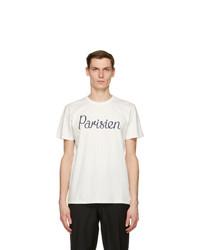 MAISON KITSUNÉ Off White Parisien Classic T Shirt