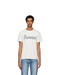 MAISON KITSUNÉ Off White Parisien T Shirt