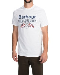 Barbour Printed Cotton Knit T Shirt Short Sleeve