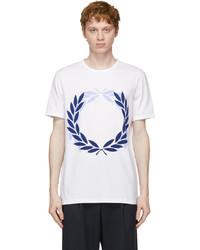 Comme des Garcons Homme Deux White Fred Perry Edition Laurel Wreath T Shirt