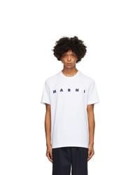 Marni White Front Logo T Shirt