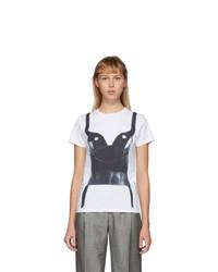 Alexander McQueen White Trompe Loeil Corset T Shirt