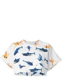 Au Jour Le Jour Graphic Print Cropped T Shirt
