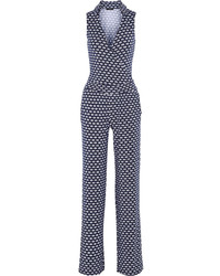 Kenna wrap effect printed modal blend jumpsuit medium 76643