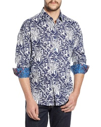 Robert Graham Wyland Classic Fit Print Sport Shirt