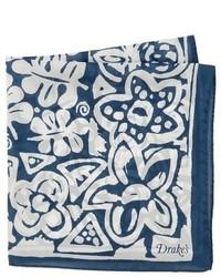 Drakes batik floral handkerchief medium 270638