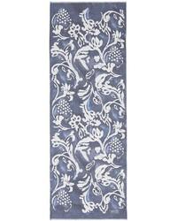 Nobrand Floral Print Silk Organza Scarf