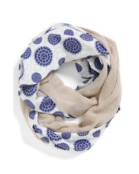 Leith Floral Print Infinity Scarf Navy One Size One Size