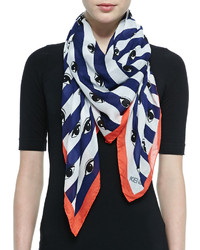 Kenzo Striped Eyes Printed Scarf