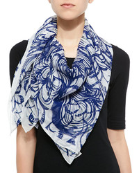 Wooster printed silk square scarf medium 227380