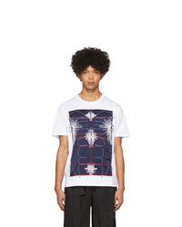 Craig Green White And Navy Embroidered Body T Shirt