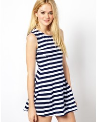 White and navy skater dress original 2939379
