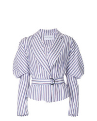 Strateas Carlucci Cumulus Puff Sleeve Striped Jacket