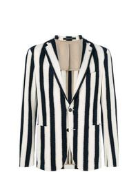 Tagliatore Striped Single Breasted Blazer