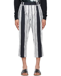 Dolce & Gabbana Navy Striped Trousers