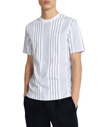 River Island Fine Stripe Slim Fit T Shirt