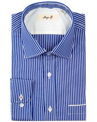 Borgo 28 Reverse Bengal Stripe Modern Fit Dress Shirt